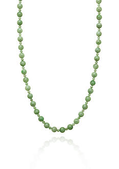 Belk & Co. 14k Yellow Gold Jade Necklace