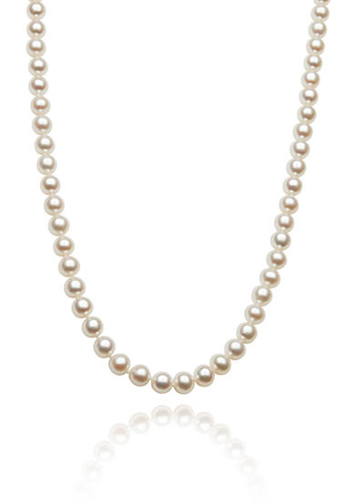 Amour de Pearl 14k White Gold Freshwater Pearl Necklace