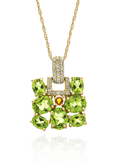 Belk & Co. 14k Yellow Gold Peridot and Citrine Pendant