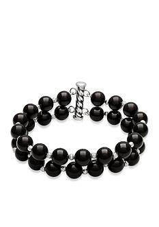 Belk & Co. Sterling Silver Onyx Bracelet