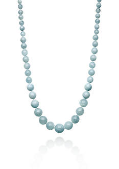 Belk & Co. Sterling Silver Milky Aquamarine Necklace