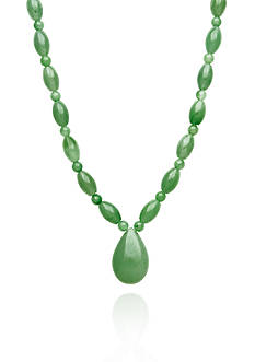 Belk & Co. Sterling Silver Jade Drop Necklace
