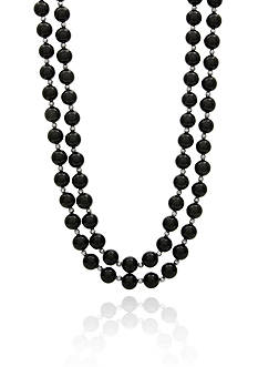 Belk & Co. Onyx Necklace in Sterling Silver