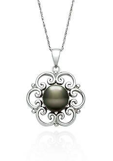 Belk & Co. Sterling Silver Tahitian Black Pearl Pendant