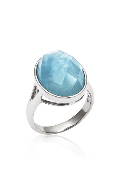 Belk & Co. Sterling Silver Milky Aquamarine Ring