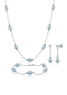 Belk & Co. Sterling Silver Milky Aquamarine Set