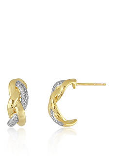 Belk & Co. Diamond Earrings in 10k Yellow Gold