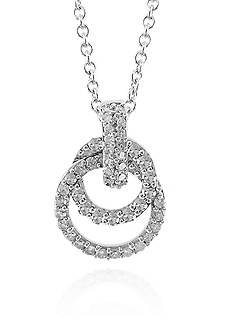 Belk & Co. Diamond Interlocked Double Circle Pendant in 14k White Gold