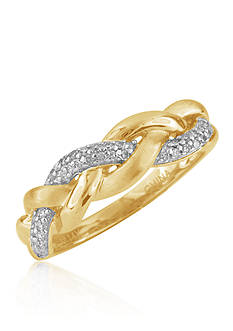 Belk & Co. Diamond Band in 10k Yellow Gold