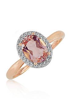 Belk & Co. Morganite and Diamond Ring in 10k Rose Gold