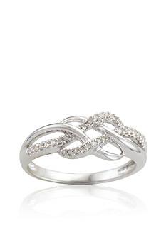 Belk & Co. Diamond Weave Ring in Sterling Silver