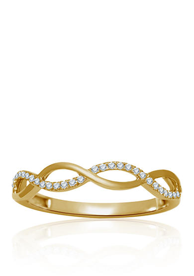 Belk co diamond ring in 10k yellow gold belk for Belk fine jewelry rings