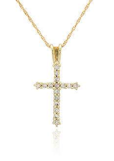 Belk & Co. Diamond Cross Pendant