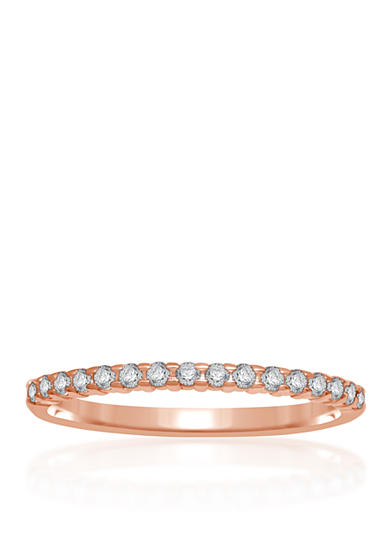 Belk & Co. 1/6 ct. t.w. Diamond Anniversary Band in 10k Rose Gold