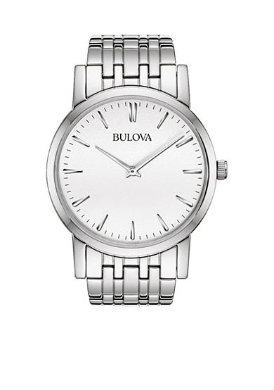Bulova Men's White Tone Stainless Steel Bracelet Watch