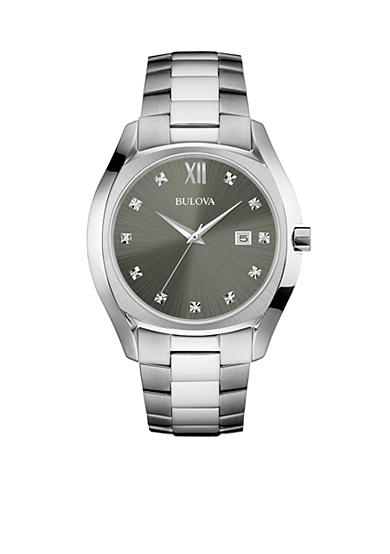 Bulova Men's Stainless Steel Diamond Watch