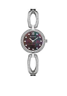 Bulova Women's Stainless Steel Crystal Watch