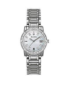 Bulova Ladies Stainless Steel Diamond Watch