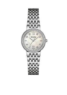 Bulova Women's Diamond Stainless Steel Bracelet Watch