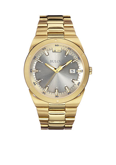 Bulova Men's Yellow Gold Plated Stainless Steel Watch