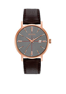 Bulova Men's Classic Brown Leather Watch