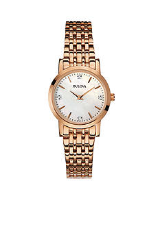 Bulova Women's Rose Gold-Tone Stainless Steel Watch