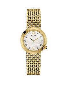 Bulova Women's Gold-Tone Bracelet Watch