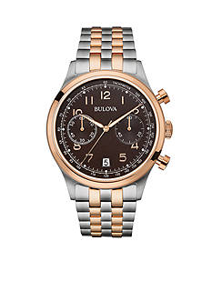 Bulova Men's Two Tone Chronograph Watch
