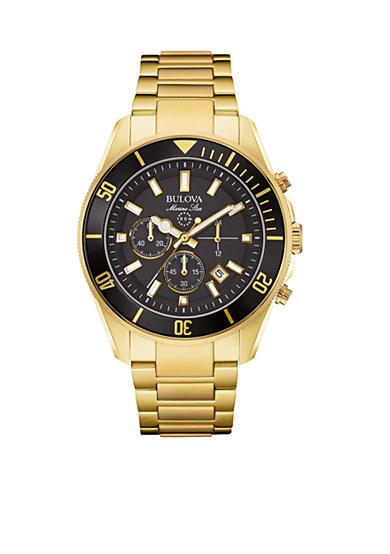 Bulova Men's Marine Star Gold-Tone Watch