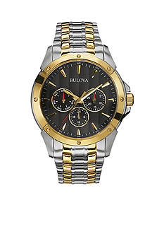 Bulova Men's Two-Tone Yellow Gold and Stainless Steel Watch