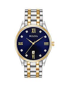 Bulova Men's Two-Tone Diamond Watch