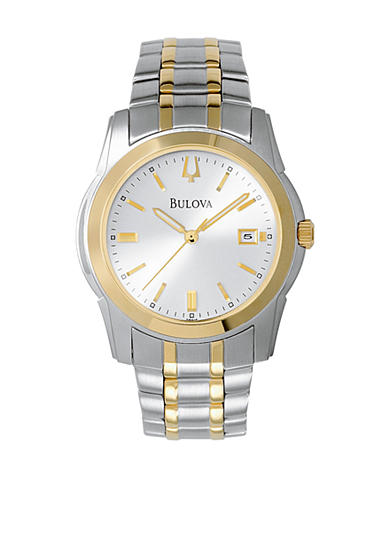 Bulova Men's Two Tone Stainless Steel Round Dial Watch