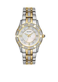 Bulova Ladies' Two Tone Crystal Watch