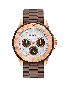 Bulova Ladies' Rose Gold-Tone Bulova Bracelet Watch
