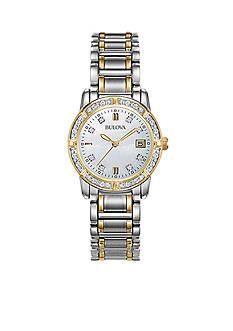Bulova Ladies Two-Tone with Diamonds Watch