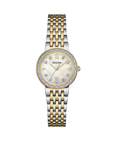 Bulova Women's Two-Tone Stainless Steel Diamond Watch
