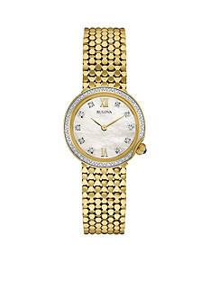 Bulova Women's Gold-Tone Diamond Watch