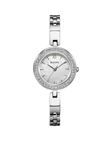 Bulova Ladies' Stainless Steel Bulova Watch With Interchangeable Bezels