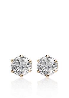 Belk & Co. 1/4 ct. t.w. Diamond Solitaire Earrings in 14k Yellow Gold