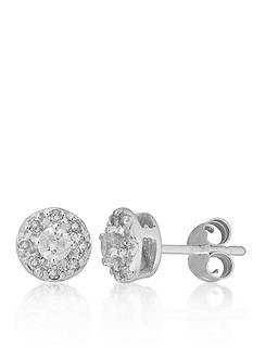 Belk & Co. Diamond Cluster Earring in 14k White Gold
