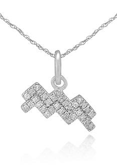 Belk & Co. Diamond Aquarius Pendant in 10k White Gold