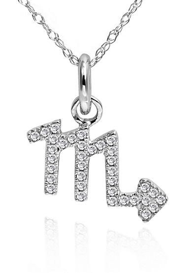 Belk & Co. 10 Kt White Gold Diamond Accent Scorpio Pendent Necklace