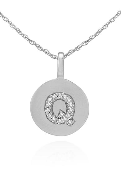 Belk & Co. Diamond Accent Q Pendant in 14k White Gold