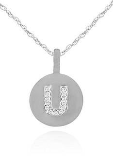 Belk & Co. Diamond Accent U Pendant in 14k White Gold