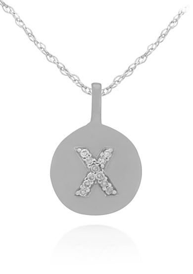 Belk & Co. Diamond Accent X Pendant in 14k White Gold