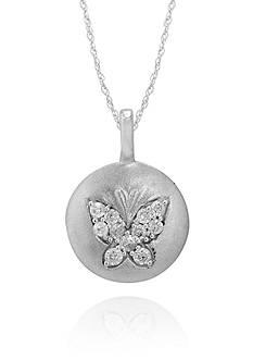 Belk & Co. Diamond Butterfly Pendant in 14k White Gold