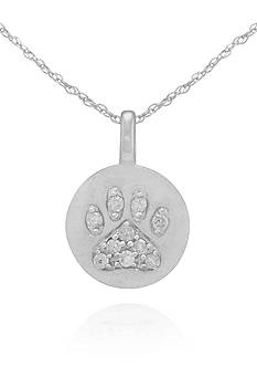 Belk & Co. Diamond Accent Paw Pendant in 14k White Gold