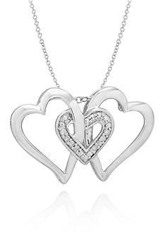 Belk & Co. Diamond Accent Heart Pendant in Sterling Silver