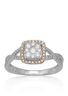 Belk & Co. Diamond Ring in 10k Two-Tone Gold