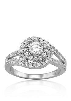 Belk & Co. Diamond Engagement Ring in 14k White Gold